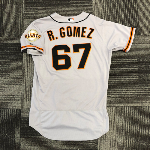 San Francisco Giants -2017 Game-Used Road Alternate Jersey worn by #67 Roberto Gomez