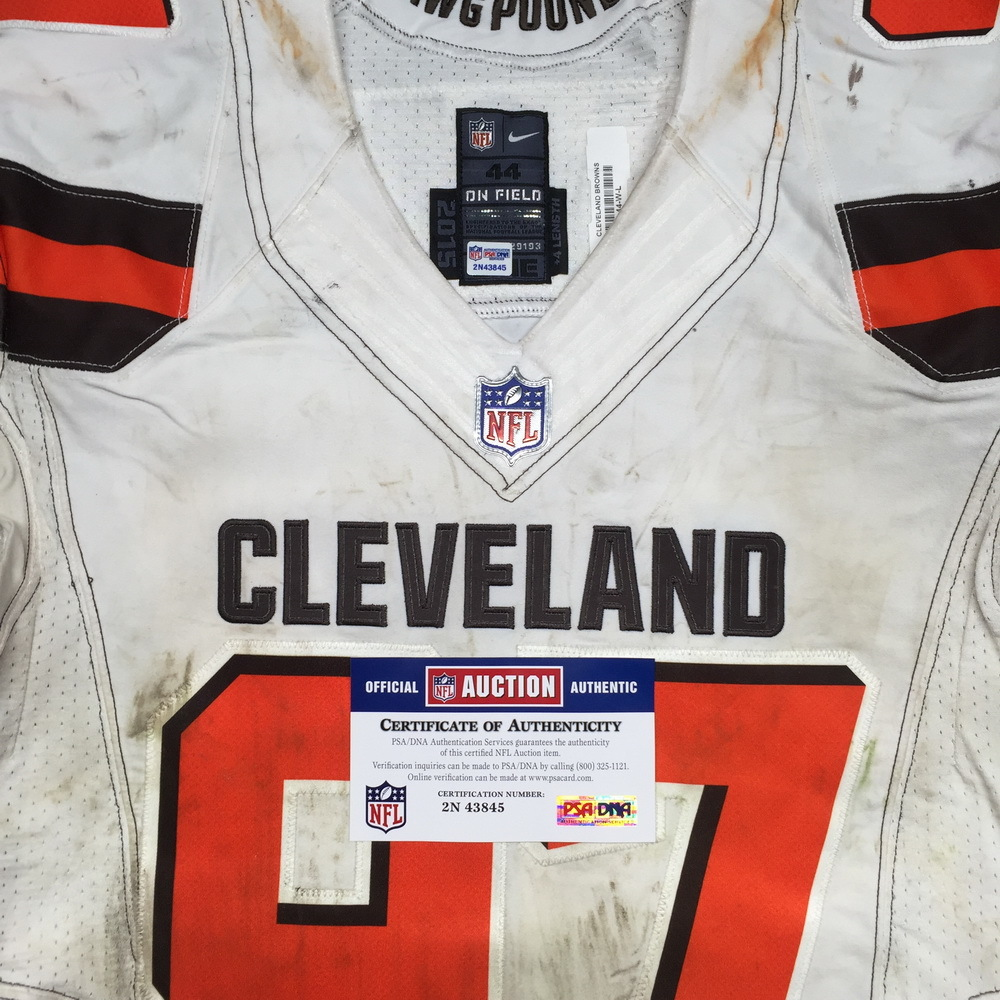 detailed look 2e463 dbbea NFL Auction | LONDON GAMES - BROWNS T.Y. MCGILL GAME WORN ...