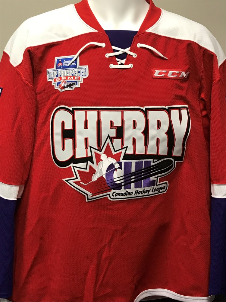 94836221a Home jerseys Filip Zadina 2018 Sherwin-Williams CHL NHL Top Prospects Game  Worn Jersey