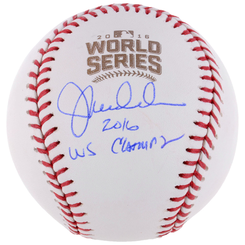 Photo of Joe Maddon Chicago Cubs 2016 MLB World Series Champions Autographed World Series Logo Baseball with 2016 WS Champs Inscription
