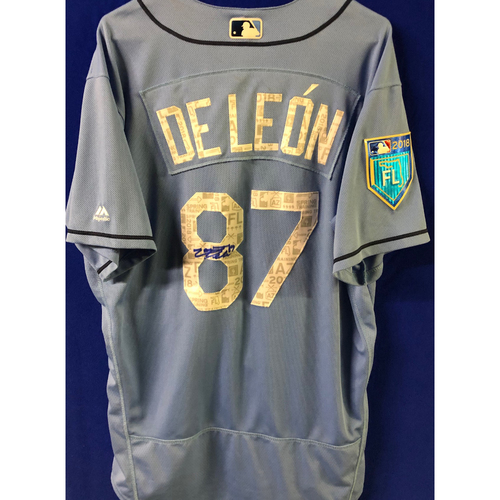 Photo of 2018 Spring Training Team-Issued Autographed Jersey: Jose De Leon
