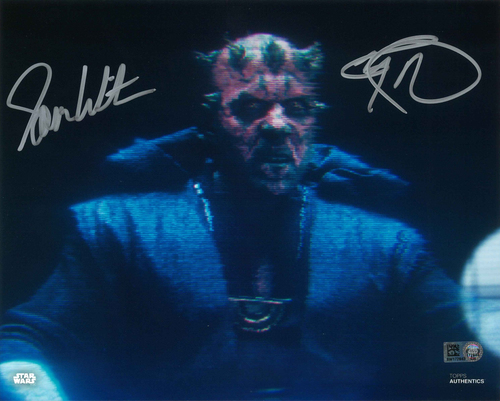 Ray Park and Sam Witwer As Darth Maul  8X10 AUTOGRPAHED IN 'SILVER' INK PHOTO