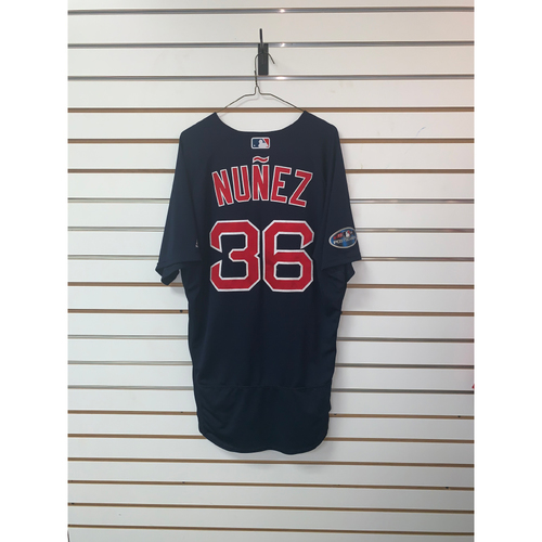 Photo of Eduardo Nunez Team-Issued 2018 Postseason Road Alternate Jersey