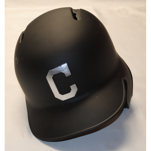 "Photo of Roberto ""Bebo"" Perez Cleveland Indians Game-Used 2019 Players' Weekend Helmet"