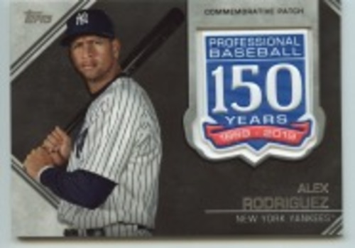 Photo of 2019 Topps Update 150th Anniversary Manufactured Patches #AMPAR Alex Rodriguez