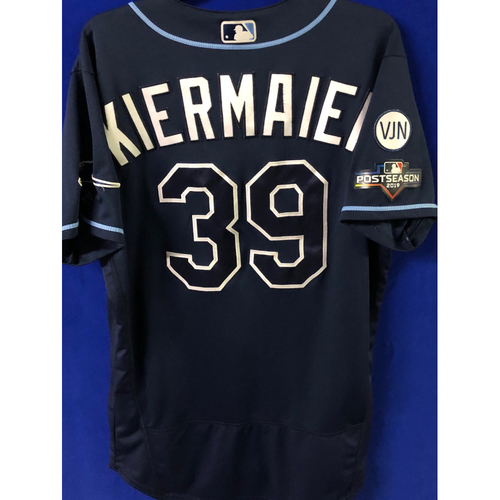 Photo of Game Used Postseason Jersey (WC/ALDS): Kevin Kiermaier - October 2 (OAK) & October 4, 10 (HOU)
