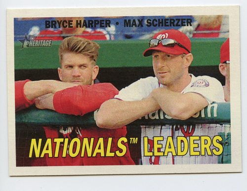 Photo of 2016 Topps Heritage Combo Cards #CC1 Bryce Harper/Max Scherzer