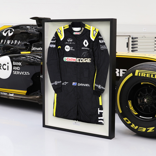 Photo of Daniel Ricciardo Framed 2019 Signed Race-Worn Race Suit - Renault F1 Team