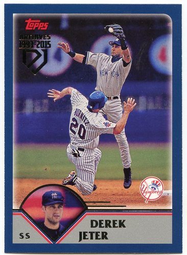 Photo of 2017 Topps Archives Derek Jeter Retrospective #DJ11 Derek Jeter/'03 Topps REPRINT