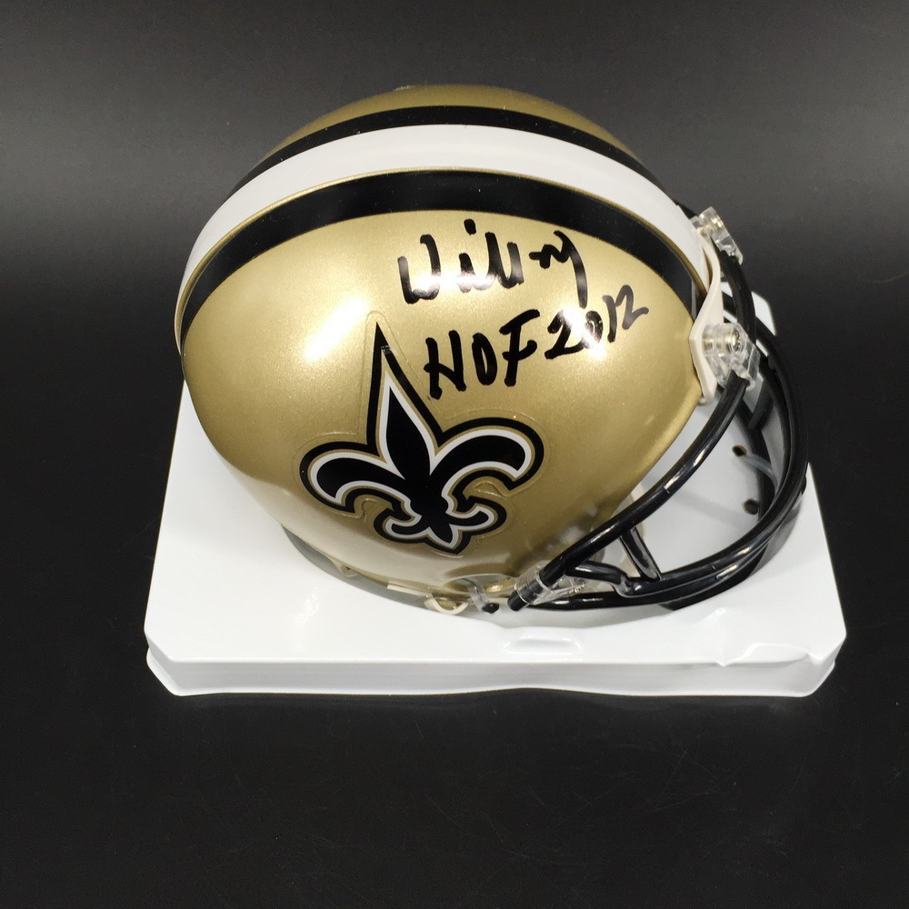 HOF - Saints Willie Roaf Signed Mini Helmet