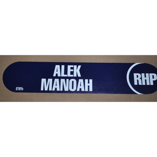 2019 MLB Draft Nameplate - Alex Manoah