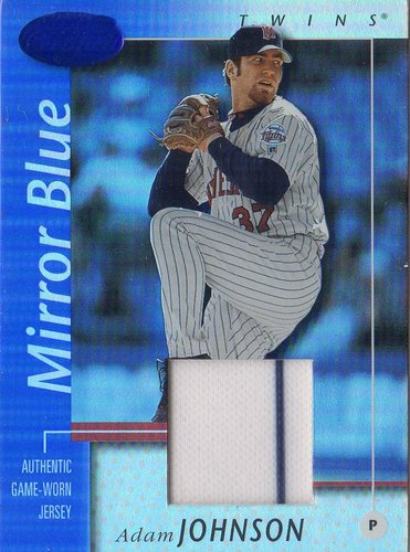 Photo of 2002 Leaf Certified Mirror Blue #31 Adam Johnson Jsy