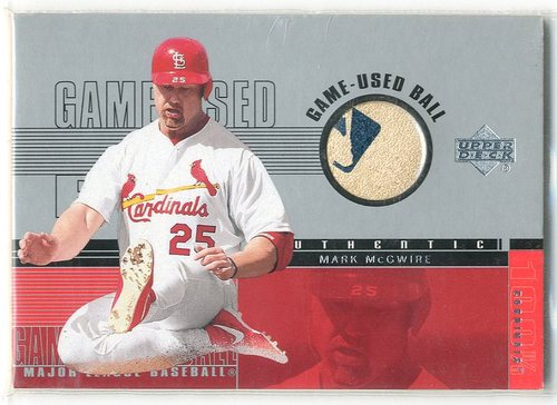 Photo of 2001 Upper Deck Game Ball 2 #BMM Mark McGwire