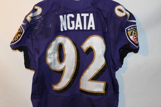 NFL Auction   RAVENS HALOTI NGATA GAME WORN JERSEY (OCTOBER 6, 2013)