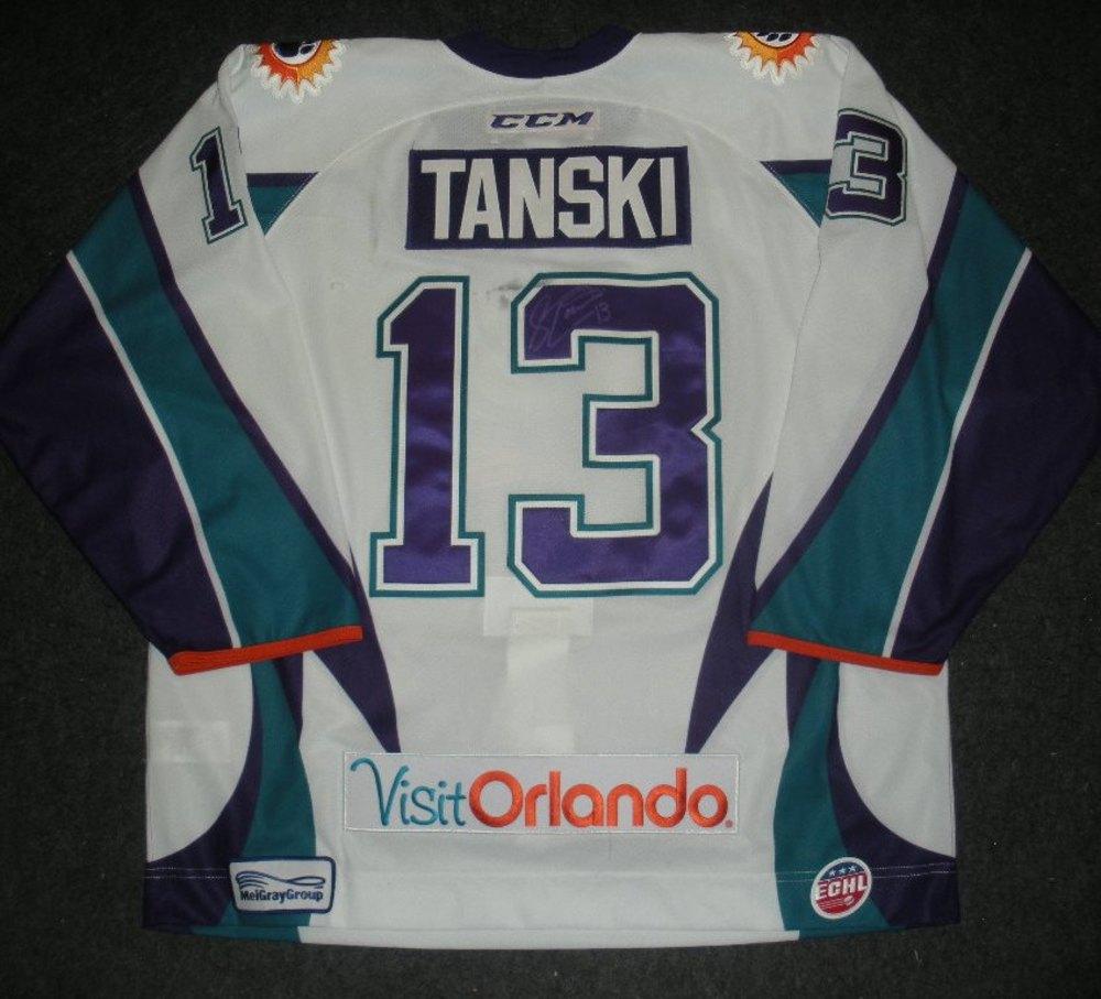 ac0c77850 Scott Tanski - Silver Skater - Orlando Solar Bears - Autographed Game-Worn  Jersey - Worn 1 3 14