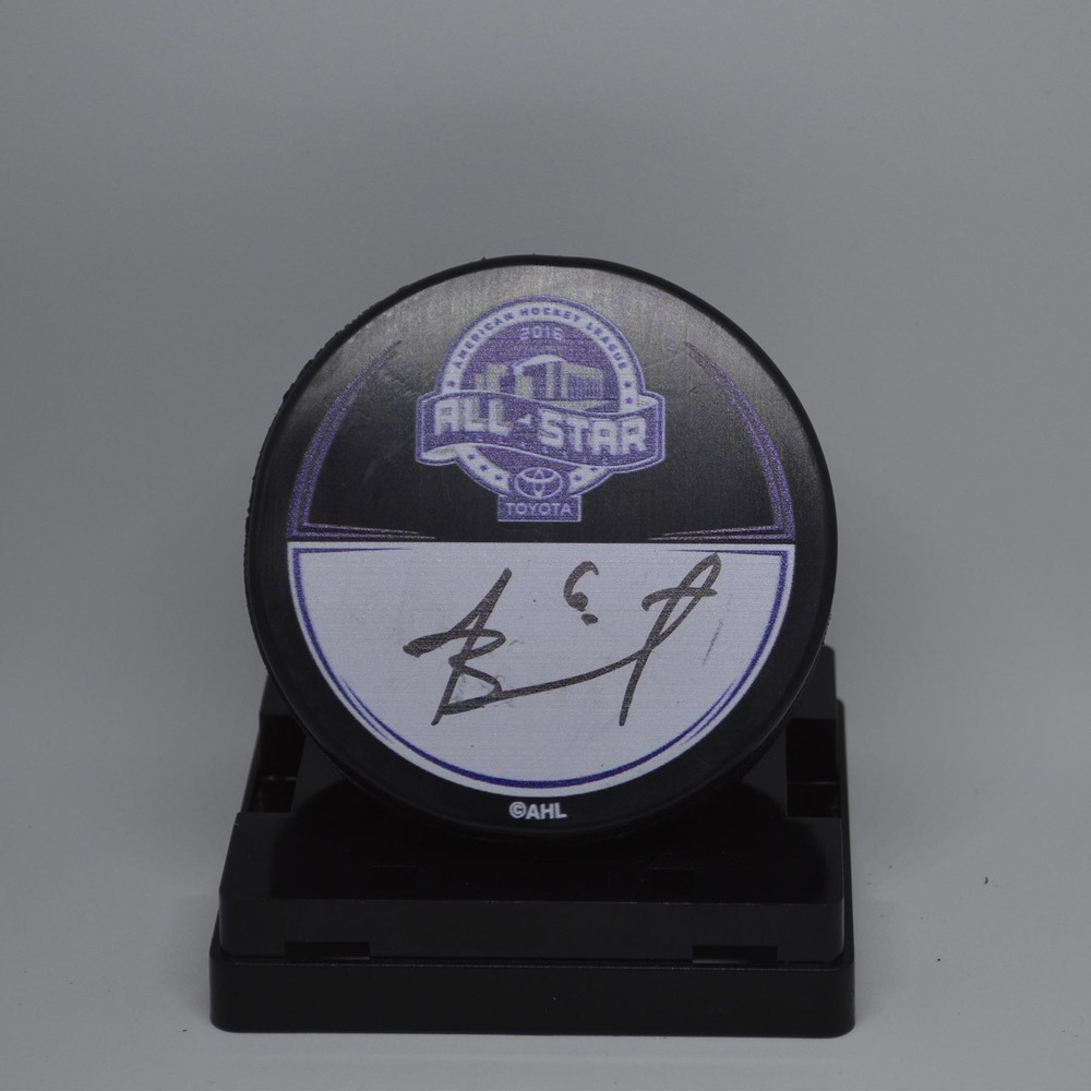 2016 Toyota AHL All-Star Classic Souvenir Puck Signed by #6 Andre Benoit