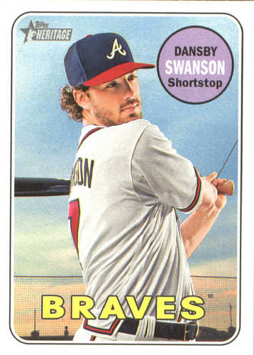 Photo of 2018 Topps Heritage #53 Dansby Swanson
