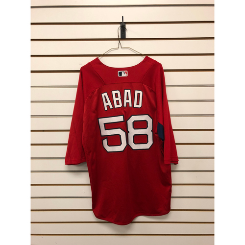 Photo of Fernando Abad Team-Issued Home Batting Practice Jersey