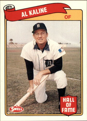 Photo of 1989 Swell Baseball Greats #40 Al Kaline -- Hall of Fame Class of 1980