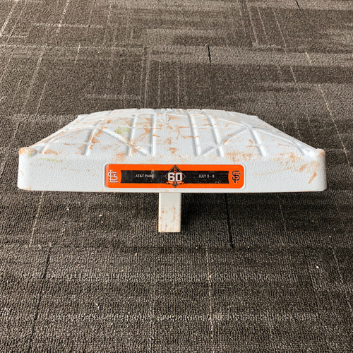 Photo of San Francisco Giants - 2018 Game -Used Base - July 5, 2018 - STL @ SF - 3rd Base Innings 1-3