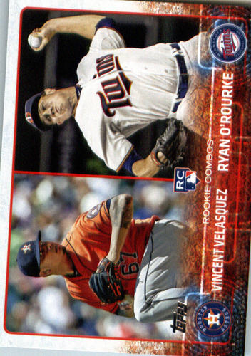 Photo of 2015 Topps Update #US258 Vincent Velasquez RC/Ryan O'Rourke Rookie Card