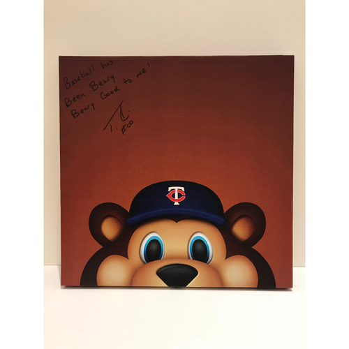 Photo of Autographed T.C. Bear Canvas Print - Twins