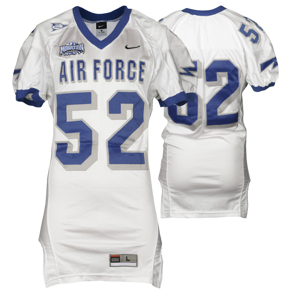 Air Force Falcons Game-Used #52 White Football Jersey with