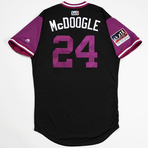 "Photo of Ryan ""McDoogle"" McMahon  Colorado Rockies Game-Used 2018 Players' Weekend Jersey"