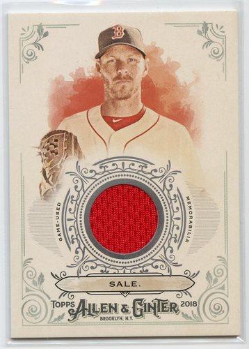 Photo of 2018 Topps Allen and Ginter Relics #FSRBCS Chris Sale B