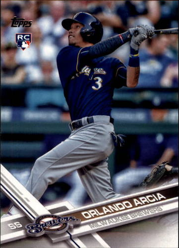 Photo of 2017 Topps #255A Orlando Arcia Rookie Card