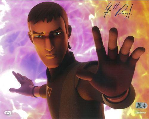 Freddie Prinze Jr. As Kanan Jarrus 8X10 Autographed in Blue Ink Photo