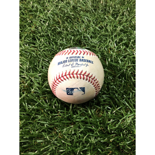 Photo of Game Used Baseball: Ji-Man Choi single off Masahiro Tanaka - May 12, 2019 v NYY