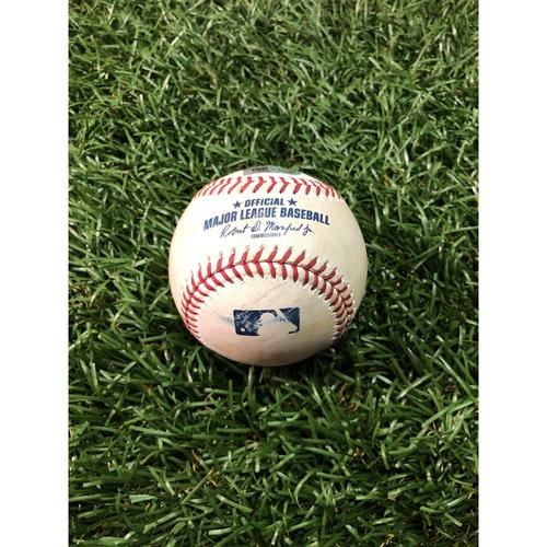 Game Used Baseball: Ji-Man Choi single off Masahiro Tanaka - May 12, 2019 v NYY