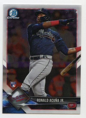 Photo of 2018 Bowman Chrome #40 Ronald Acuna Jr. RC