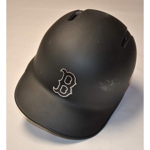 "Photo of Eduardo ""EL GUALO"" Rodriguez Boston Red Sox Game-Used 2019 Players' Weekend Helmet"