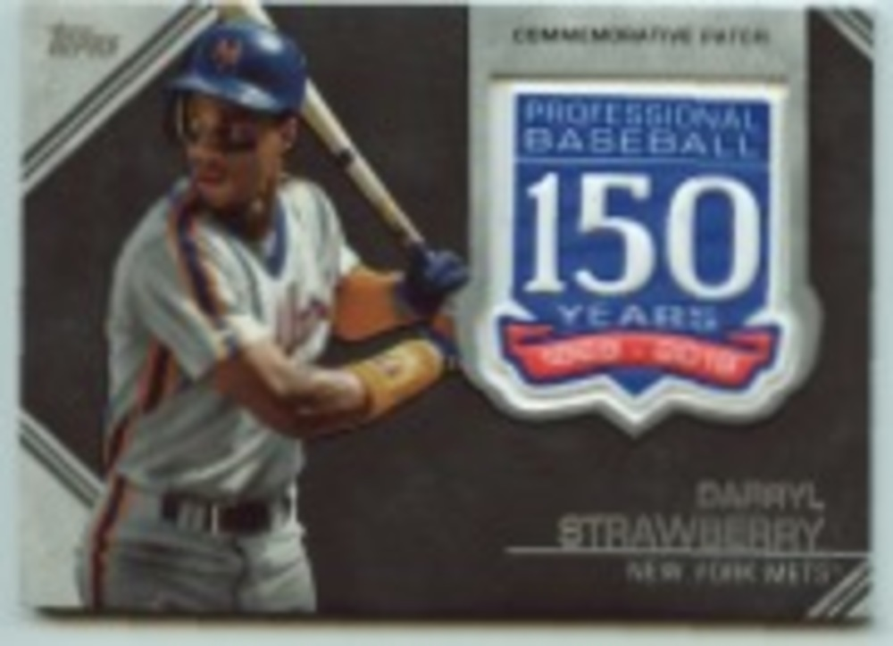 2019 Topps Update 150th Anniversary Manufactured Patches #AMPDS Darryl Strawberry