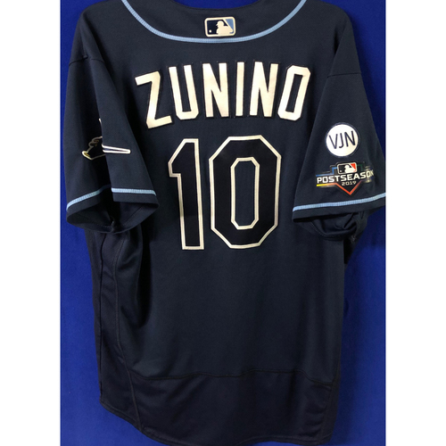 Photo of Game Used Postseason Jersey (WC/ALDS): Mike Zunino - October 2 (OAK) & October 4, 10 (HOU)