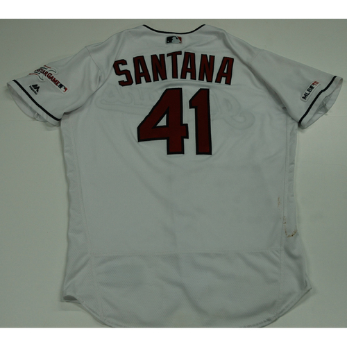 Photo of Carlos Santana 2019 Team Issued Home White Jersey