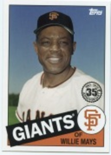 Photo of 2020 Topps '85 Topps #8587 Willie Mays