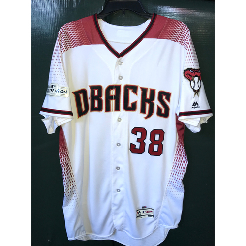 Photo of Robbie Ray 2017 Team-Issued Postseason Home Regular Jersey, Size 46