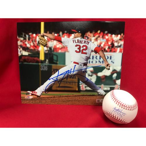 Photo of Jack Flaherty Autographed Baseball and Photo