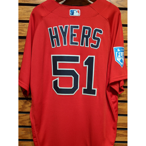 Photo of Coach Tim Hyers #51 2019 Red Spring Training Team Issued Jersey