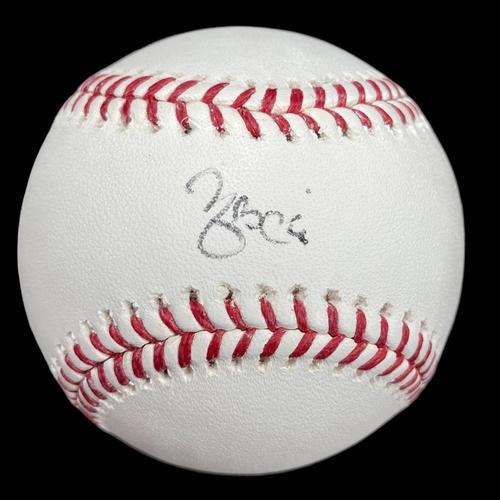 Photo of Yadier Molina Autographed Baseball