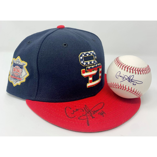 Photo of Craig Stammen Hat and Autographed Baseball