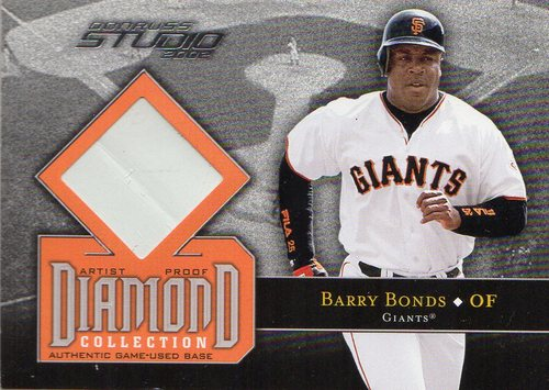 Photo of 2002 Studio Diamond Collection Artist's Proofs #7 Barry Bonds Base/200