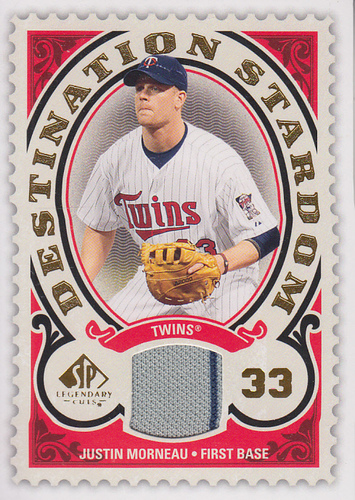 Photo of 2009 SP Legendary Cuts Destination Stardom Memorabilia #MO Justin Morneau