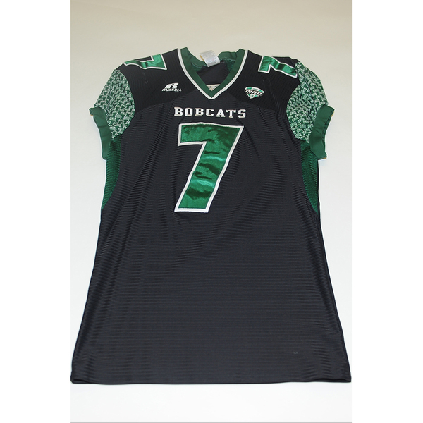 Photo of # 7 - Official OHIO BOBCATS Game Worn Football Jersey (2011) - SIZE MEDIUM