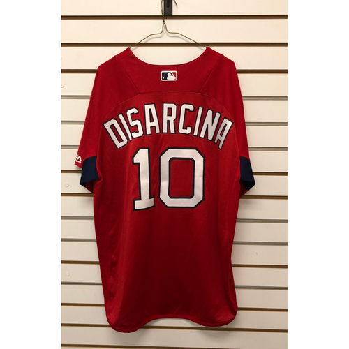 Photo of Gary Disarcina Team-Issued Home Batting Practice Jersey