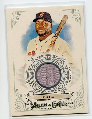 Photo of 2018 Topps Allen and Ginter Relics #FSRBDO David Ortiz B