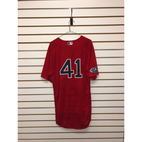 Photo of Chris Sale Game-Used October 5, 2018 ALDS Game 1 Home Alternate Jersey
